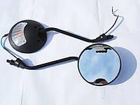 Зеркала MINSK SONIK Круглые с поворотом черные