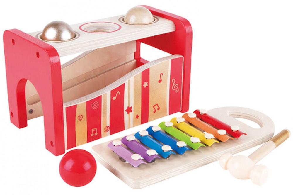 Музыкальная игрушка  ксилофон+стучалка