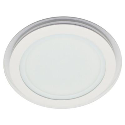 Потолочный светодиодный cветильник SL457 18W 4000K круглый белый сатурн Код.57383