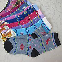 """Носки махровые для детей (олени), 16-22 р. """"Свет"""". Детские  носки, носочки махровые  для детей"""