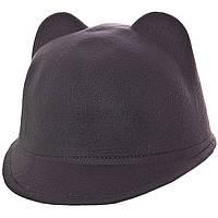 Женская кашемировая кепка с ушками  р-12079