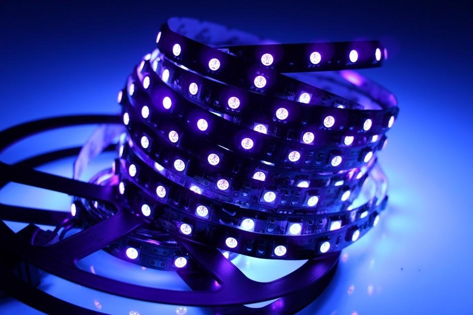 Светодиодная лента LED 12V, SMD5050, 60 д/м, ультрафиолет