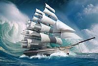 Алмазная вышивка Покоряя океан KLN 50 х 40 см (арт. FS300)