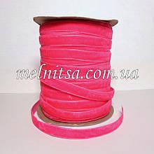 Лента бархатная 1 см, цвет розовый