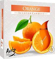 Свеча чайная ароматизированная Bispol Апельсин 2.4 см 4 шт (р40-63)