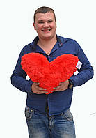 Сердце красное размер 45см х35см