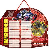 "Расписание уроков Kite16 TF15-145K ""Transformers"" + маркер"