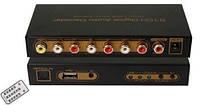 Декодер/Перетворювач Цифрового Аудіо S PDIF/Coaxial Dolby AC3/DTS В 5.1-Канальний Аналоговий З USB Мультимедіа