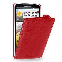 Кожаный чехол (флип) TETDED для Lenovo S920 Красный / Red