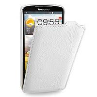 Кожаный чехол (флип) TETDED для Lenovo S920 Белый / White