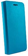 Чехол книжка для Lenovo S90 магнитная с силиконом голубая