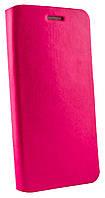Чехол книжка для Lenovo S90 магнитная с силиконом розовая