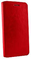 Чехол книжка для Lenovo S90 магнитная с силиконом красная