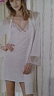 Комплект женский ночная сорочка и пеньюар