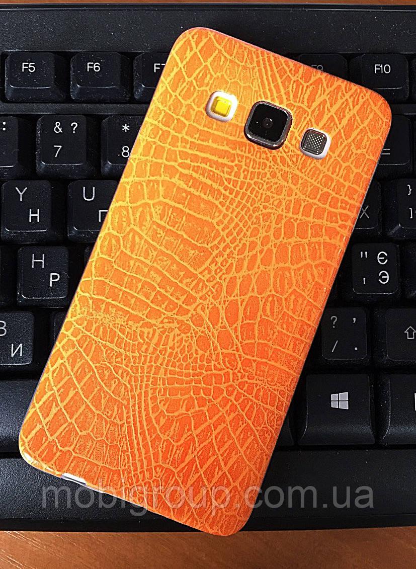 """Силиконовый чехол """"Крокодил"""" для Samsung А3 (2015)"""