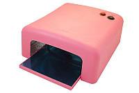 УФ лампа для полимеризации геля и гель-лака, гель лампа, 36 Вт,  цвет розовый YRE 818 /0-8