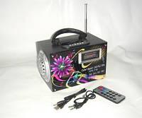 Портативная акустическая колонка YPS-11B: слот SD, USB,пульт ДУ, 2х3 Вт, аккумулятор, 19х11х13 см
