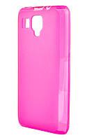 Чехол для Lenovo A238 силиконовый розовоый / прозрачный