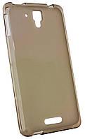 Силиконовый чехол для Lenovo S8/S898 серый/прозрачный