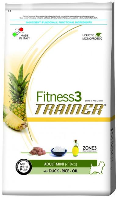 Корм для мини-собак Trainer Fitness3 Adult Mini Duck, Rice & Oil