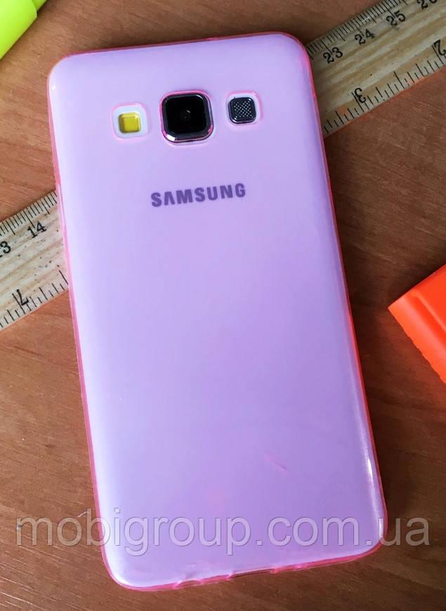 Силіконовий чохол 0,3 мм для Samsung А3 (2015), Pink