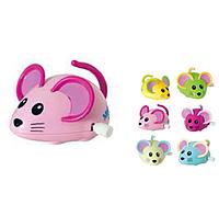 Мышка заводная, детская игрушка заводная мышка 696A, 6 цветов, 12 шт. в упаковке. Игрушки для питомцев
