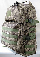 Тактический походный крепкий рюкзак 40л пиксель. Армия, рыбалка, туризм, охота, спорт