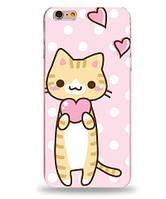 Оригинальный чехол панель накладка для Iphone 6 / 6s с картинкой Котик с сердечком