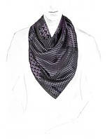Шейный мужской платок в 7ми цветах 100% шелк E05-7147