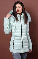 Оригинальная женская курточка мятного цвета