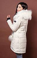 Теплая курточка со съемным капюшоном