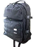 Тактический походный крепкий рюкзак 40л черный. Армия, рыбалка, туризм, охота, спорт