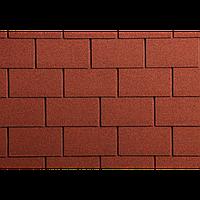 Битумная черепица Гонты орла,ICOPAL,Польша, Форма Прямоугольник,  Цвет Красный   В2