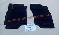Коврики в салон резиновые Politera 2шт. для Mitsubishi Lancer 9 Sedan 2003-2006
