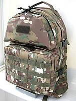 Тактический походный крепкий рюкзак 40л мультикам. Армия, рыбалка, туризм, охота, спорт