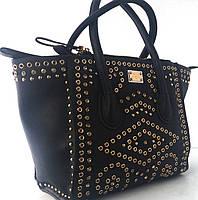 Великолепная чёрная сумка на три отдела  Velina Fabbiano