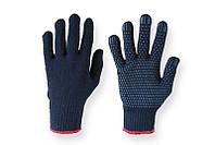 Рабочие Перчатки синие из синтетики с точкой
