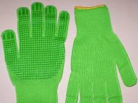 Рабочие Перчатки зеленые  из синтетики с точкой