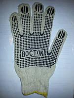 """Рабочие перчатки хб с ПВХ точкой """"ВОСТОК"""""""