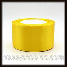 Стрічка атласна 5 см жовта