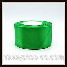 Стрічка атласна 5 см світло-зелена