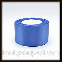 Стрічка атласна 5 см світло-синя