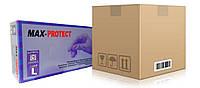 Перчатки max-protect нитриловые без пудры ящик 10 пачек
