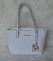 Брендовая женская сумка  Майкл Корс. Белая