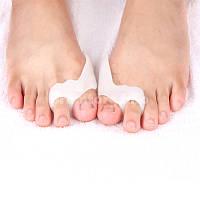 Силиконовый протектор на косточку большого и указательного пальца ноги с перегородкой, комплект 2шт (1пара)