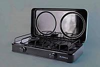 Плита газовая двухгорелочная бытовая ПГ2-Н c крышкой (газовая с крышкой)