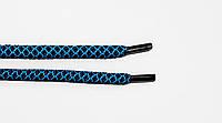 Шнурки круглые 6мм с наполнителем т.синий+бирюза , фото 1