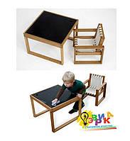 Детский столик меловой квадратный
