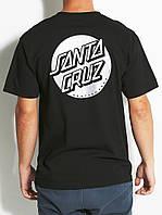 Футболка с принтом Santa Cruz  Round Logo мужская