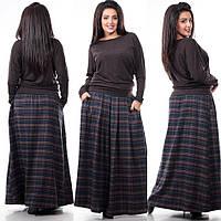 юбка шерстяная в клеточку Носится как на талии так и на бёдрах, 3 оттенка на любой вкус.ксоф №3038